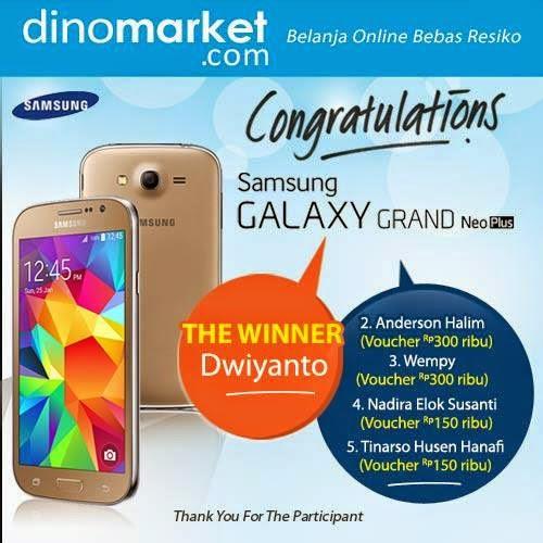 Pemenang Kuis Tantangan Labirin Hadiah Samsung Galaxy Grand