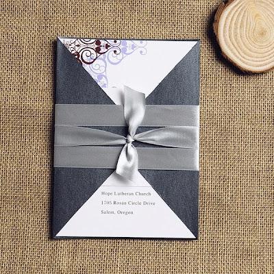 Wedding Invitations With Ribbon