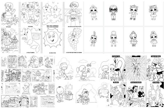 1000 desenhos para colorir para você imprimir e é grátis