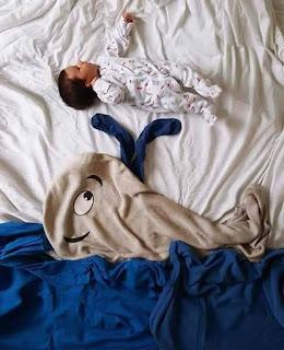 Ideas para fotos de bebés - ballena