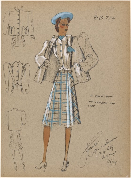10-Piece-Suit-New-York-Public-Library-André-Studios-Fashion-Vintage-Illustrations-and-Drawings-from-the-1930s-www-designstack-co