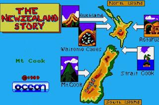 Mapa The NewZealand Story