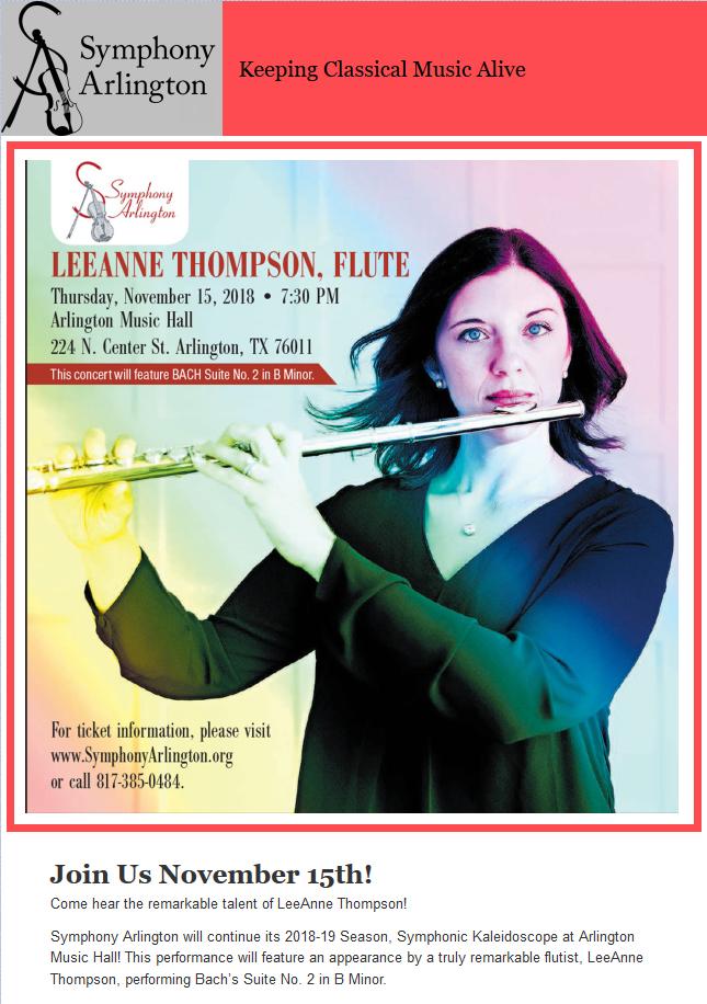 47a3a97e865 817ArtsAlliance  Symphony Arlington Features Flutist LeeAnne ...