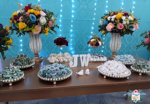 Casamento com Decoração Azul Tiffany