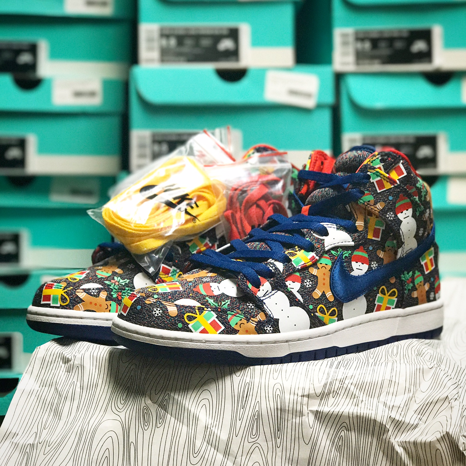 Galactic G SK8 Shop: Nike SB Dunk High Ugly Christmas Sweater