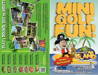 Scorecard from Shipwreck Island Adventure Golf in Myrtle Beach. From Pat Sheridan / The Putting Penguin