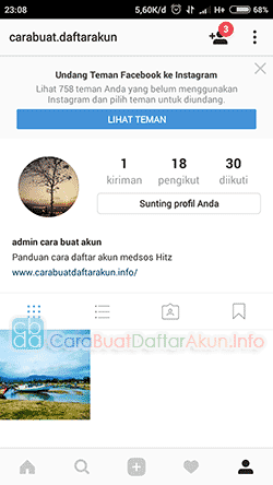 Cara log in Instagram lewat Facebook