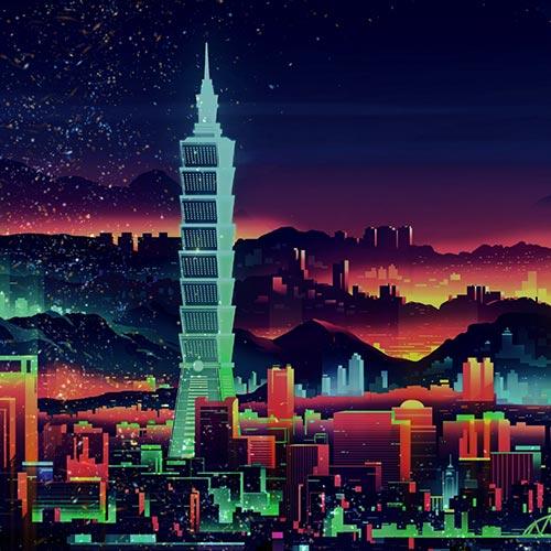 Retro Neon City 2 Wallpaper Engine