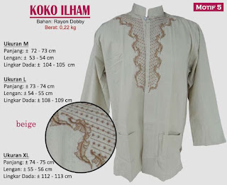 Koko model bordir tangan panjang 1 warna - ilham 5