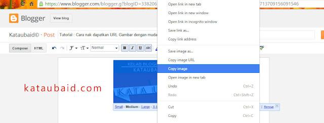 Cara nak dapatkan URL Gambar dengan mudah
