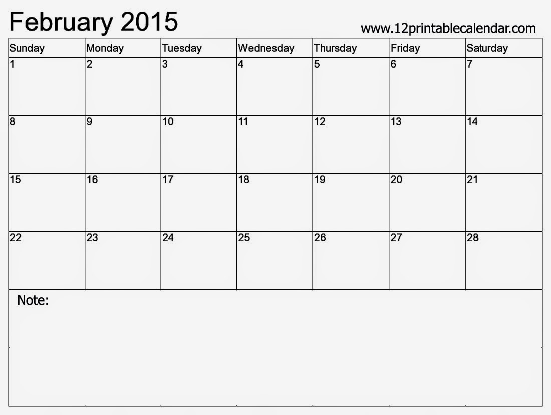 2015 Printable Calendar Template Virtrencom