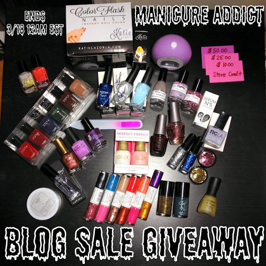 Manicure Addict Massive Blog Sale Rules + Giveaway!!
