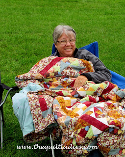 One quilt block made twelve ways quilt pattern by The Quilt Ladies.