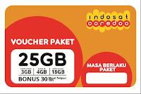 Voucher PAKET Indosat 25 Gb