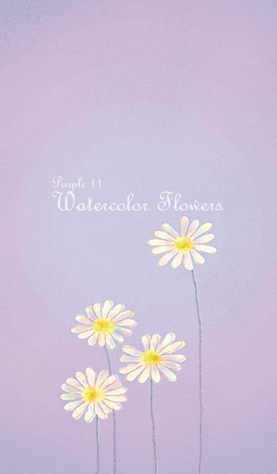 Watercolor Flowers[Marguerite]/Purple11