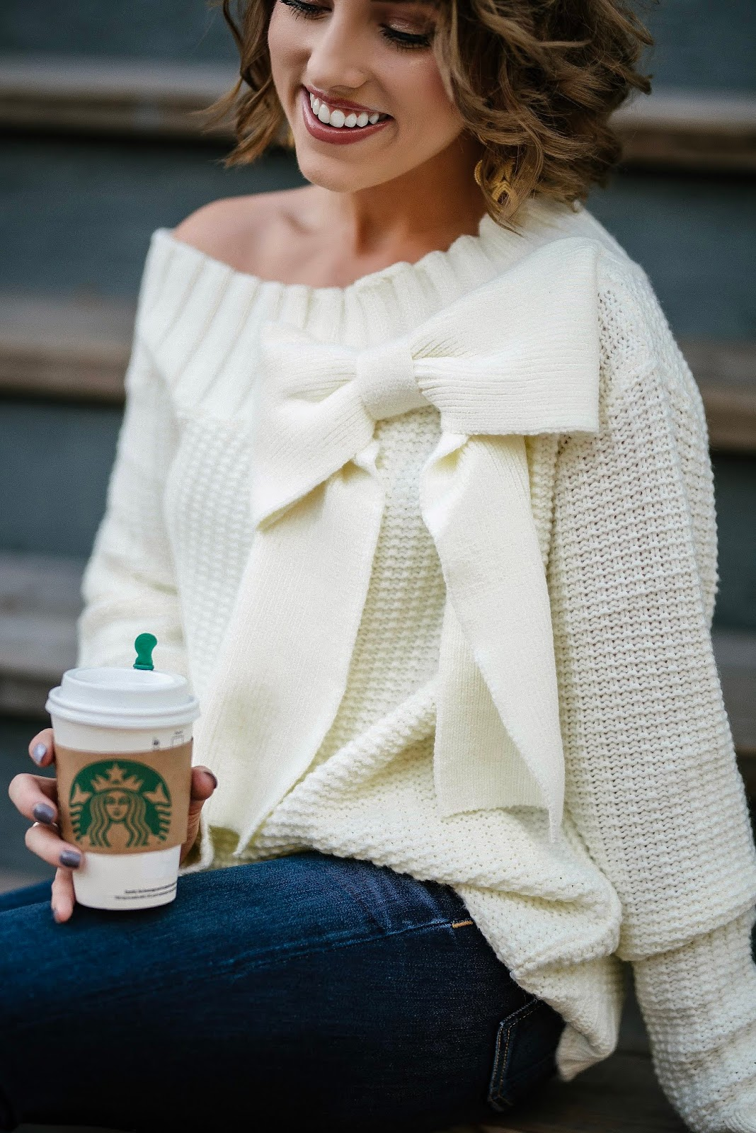 Fall Style: Under $100 Big Bow Sweater - Something Delightful Blog