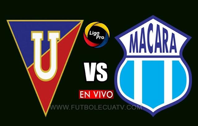 Liga de Quito se enfrenta a Macará en vivo ⚽ a partir de las 14h00 horario local por la fecha 20 del campeonato nacional a efectuarse en el campo Rodrigo Paz Delgado, siendo el juez principal Roddy Zambrano con transmisión online del canal autorizado GolTV Ecuador.