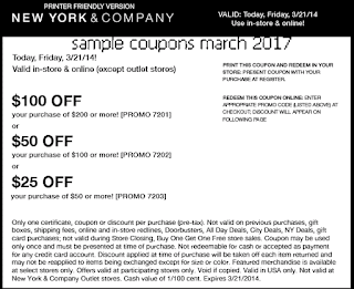 free New York And Company coupons march 2017