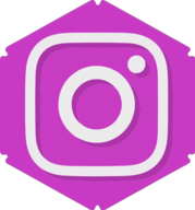 instagram hexagon icon