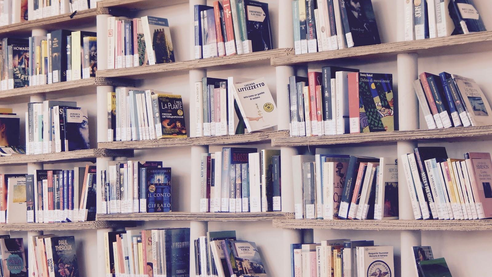 本棚の静かな佇まい