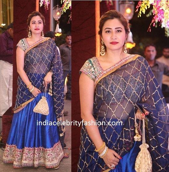 Jwala Gutta in Designer Half Saree
