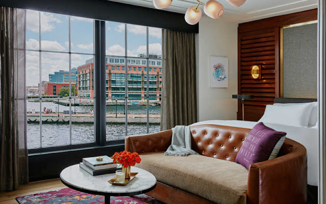 The Sagamore Pendry Baltimore guestroom collection was designed with an eye for Baltimore's heritage and historical sensibility, but with a modern and sophisticated perspective.