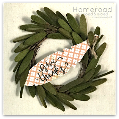 Give Thanks DIY Metal Place Feather Wreath