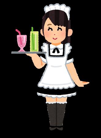 メイド喫茶の店員のイラスト