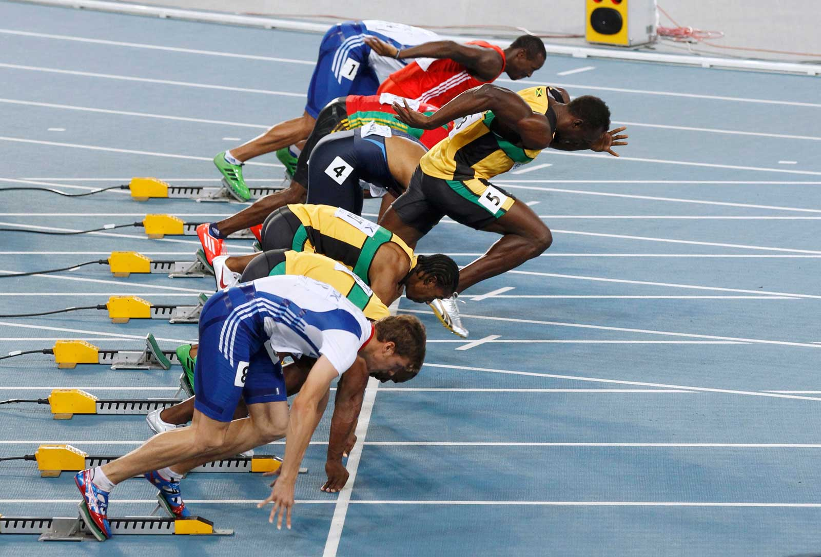 Bolt's false start at the 2011 world championships
