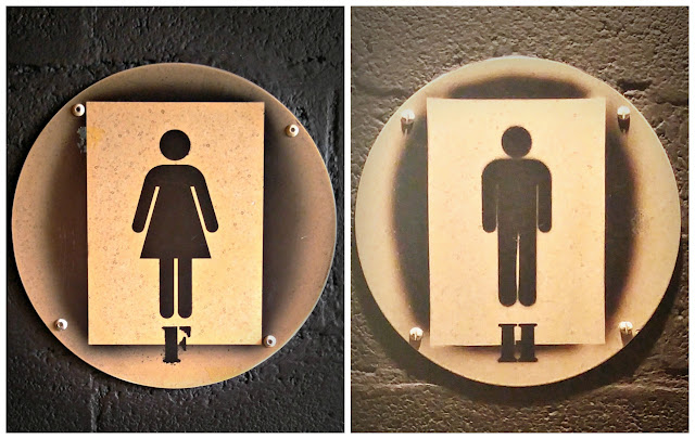 Disneyland Paris restroom signs
