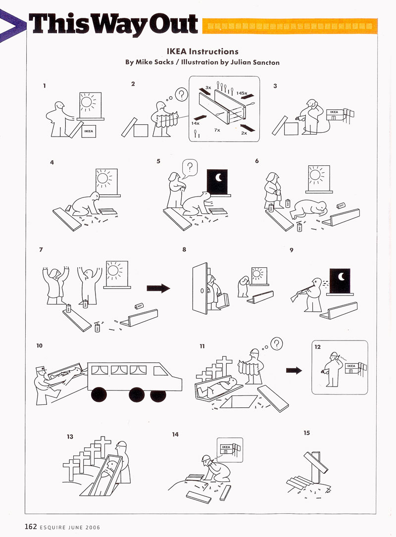 Golf Charlie Papa: How To Assemble An IKEA Manual