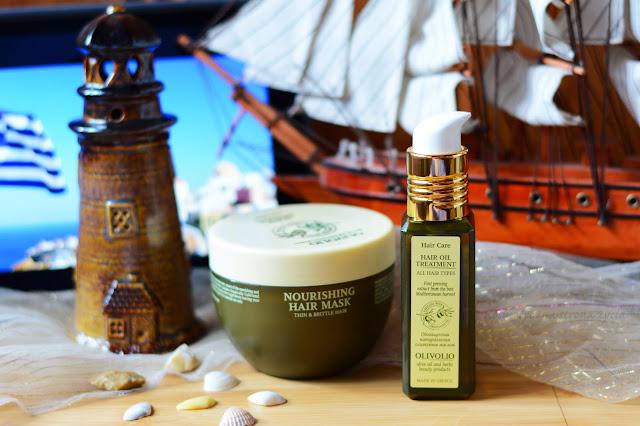 Olivolio olejek do włosów z filtrem UV, maseczka do włosów