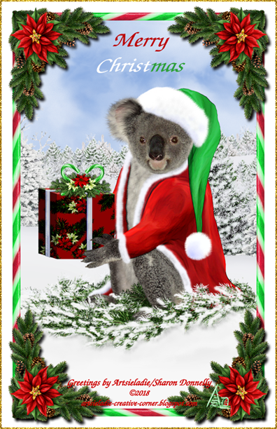 Koala Klaus (in red/green) art by/copyrighted to Artsieladie