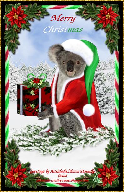 Koala Klaus (in red/green) art by/copyrighted to Artsieladie