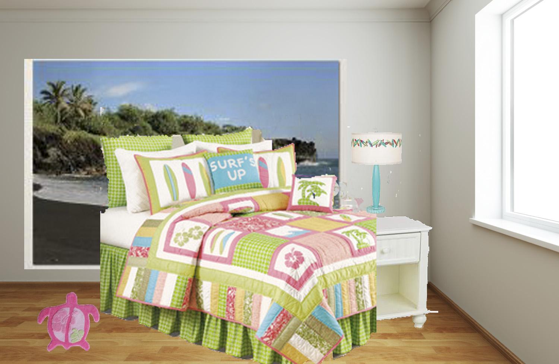 Hawaiian Style Bedroom: The Hawaiian Home Blog: Girls Surfer Style Bedroom Design