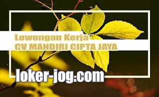 Lowongan Kerja Sales Marketing dan Design Grafis CV MANDIRI CIPTA JAYA