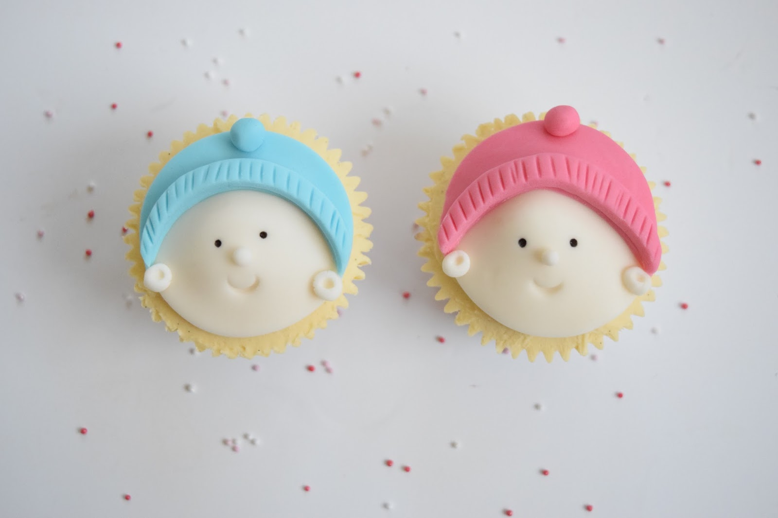 Baby Shower Cupcakes, Baby Boy Cupcakes, Fondant Face, Cute