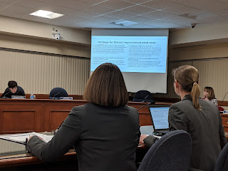 Goodman and Ahern presenting the FY 2020 budget