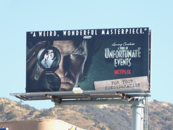 Series of Unfortunate Events 2017 Emmy billboard