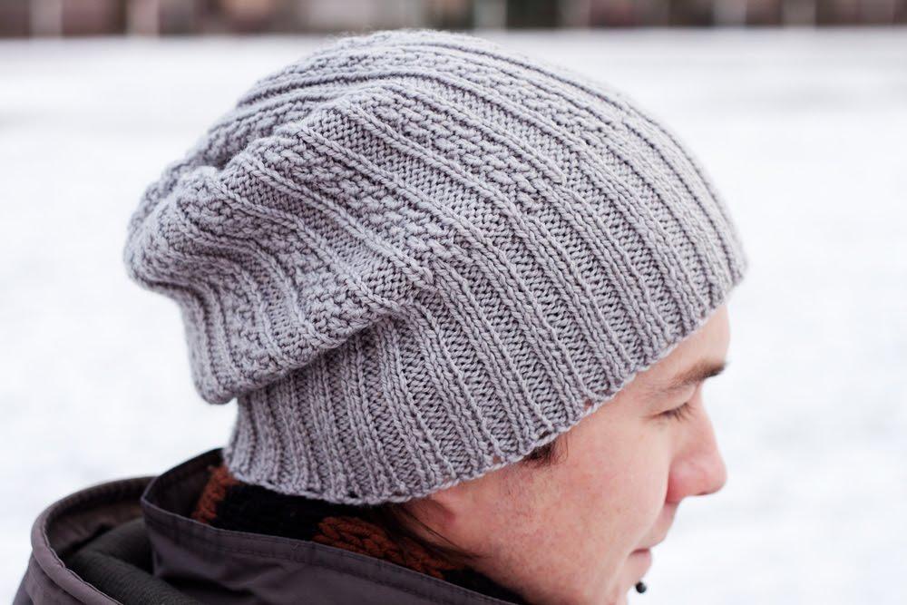 Handmade Knitting мужская шапка