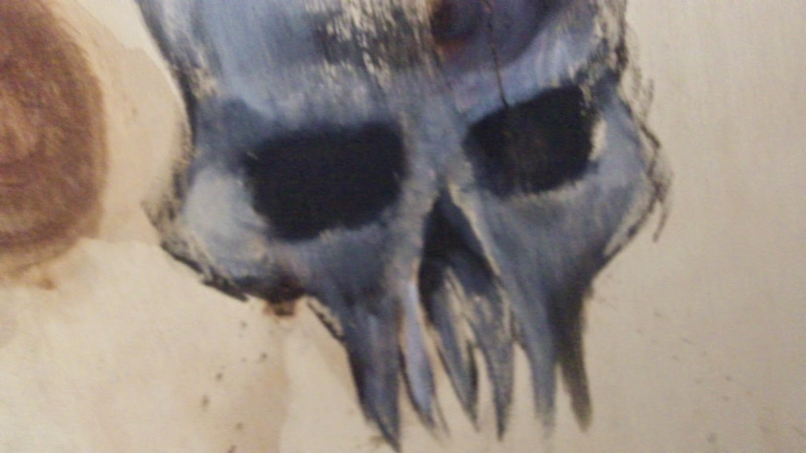 acrylic demon skull art