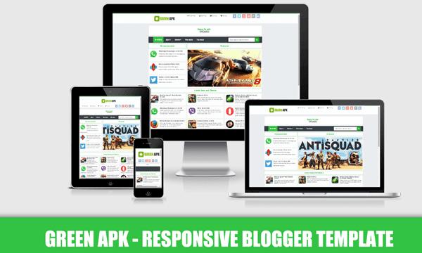 Green APK Pro шаблон для Blogger