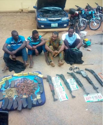See Notorious Armed Robbers Busted With Their Arms (Photos)