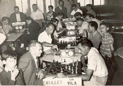 Ronda 5 del IV Torneo Nacional de Ajedrez de La Pobla de Lillet 1958