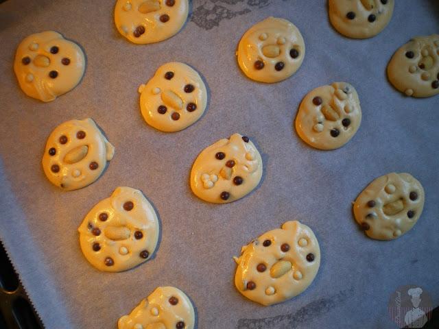 Galletas de crema de cacahuete con chocolate (listas para hornear)