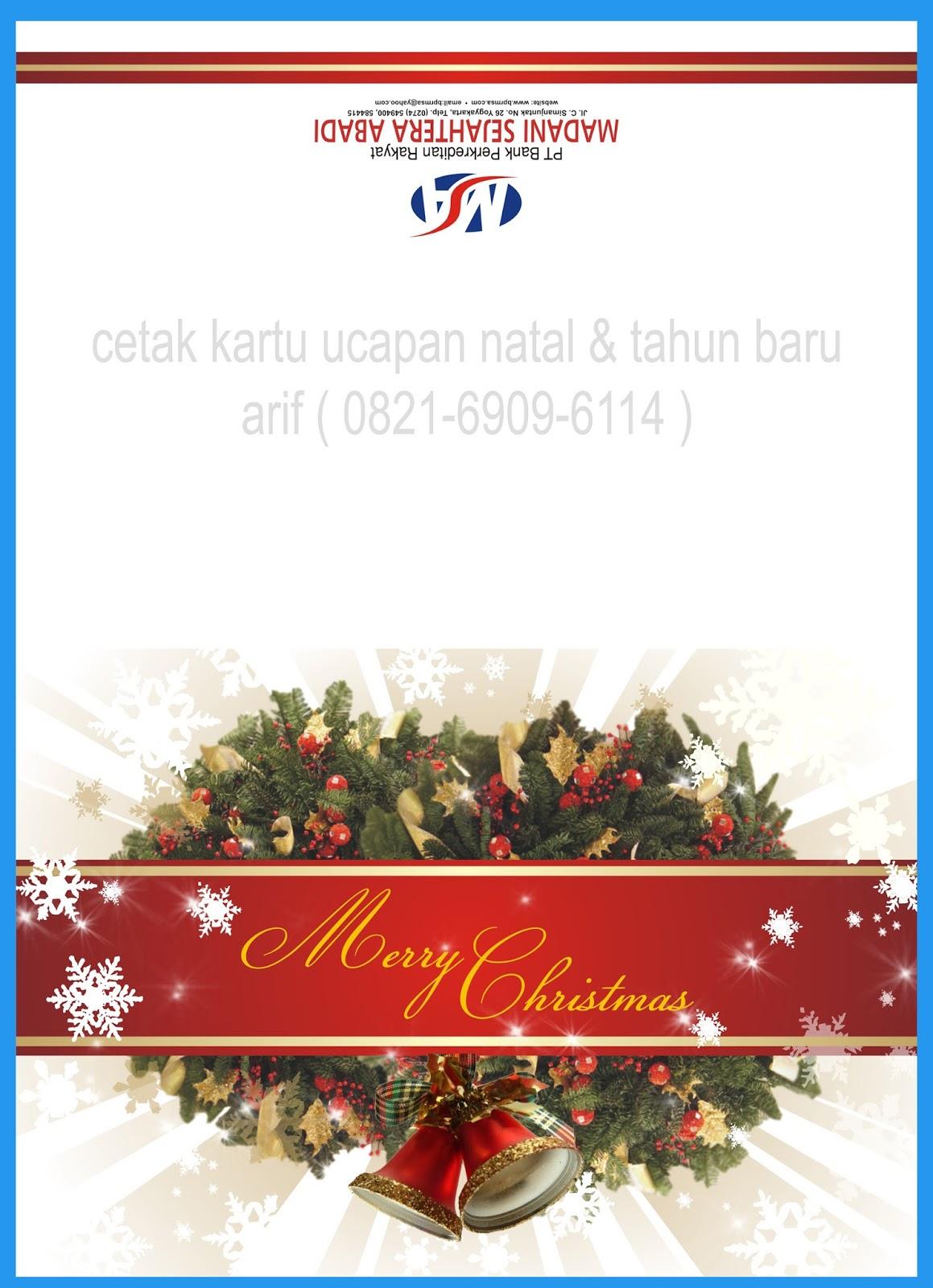 Cetak Kartu Ucapan Natal dan Tahun Baru | ANYER PRINTING