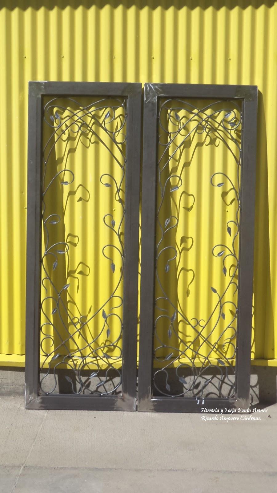 Herreria y forja punta arenas puertas - Puertas de dos hojas ...