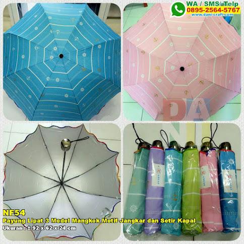 Payung Lipat 3 Model Mangkok Motif Jangkar Dan Setir Kapal