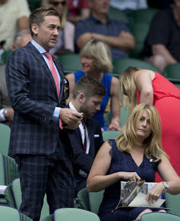 Poulter And Wife Katie At Wimbledon Centre Court