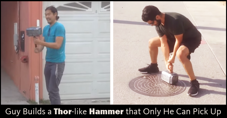 This Guy Builds A Thor-Like Hammer that Only He Can Pick Up